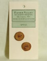 Favour Valley Woodworking Wood Buttons - Apple - Medium (2 button card)