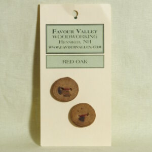 Favour Valley Woodworking Wood Buttons - Red Oak - Medium (2 button card)