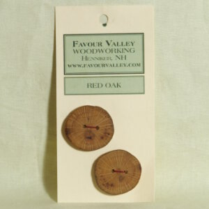 Favour Valley Woodworking Wood Buttons - Red Oak - Large (2 button card)