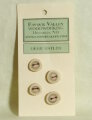 Favour Valley Woodworking Antler Buttons - Deer Antler - Small (4 button card)