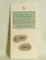Favour Valley Woodworking Antler Buttons - Deer Antler - Medium (2 button card)