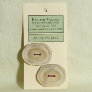 Favour Valley Woodworking Buttons - Antler Buttons