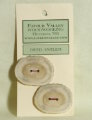 Favour Valley Woodworking Antler Buttons - Large (2 button card)