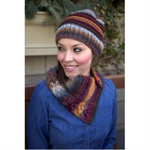 Plymouth Yarn Women's Accessory Patterns - 2876 Scarf and Hat Set Pattern