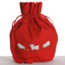 Lantern Moon Meadow Pouch Project Bags  - Red (Available in August)