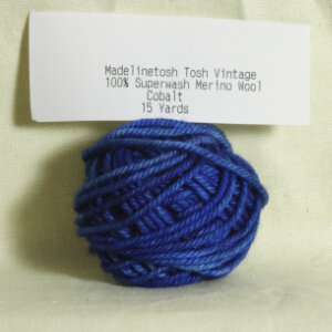 Madelinetosh Tosh Vintage Samples Yarn - Cobalt (Discontinued)