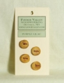 Favour Valley Woodworking Wood Buttons - Purple Lilac - Small (4 button card)