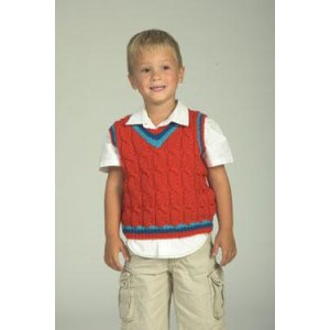 Plymouth Baby & Children Patterns - 2051 Kid's Cabled Vest Pattern