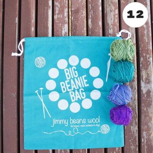 Jimmy Beans Wool Big Beanie Bags - 12-Month Gift Subscription - Cool Palette (Knit)