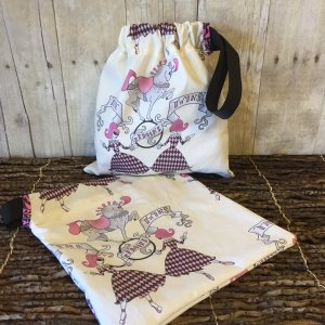 Chicken Boots - Small Wristlet