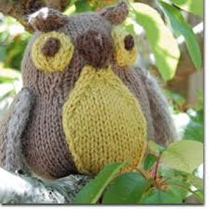 KnitWhits Softie - Bramble Owl - Brown