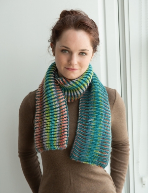Classic Elite Liberty Wool Technicolor Scarf Kit - Scarf and Shawls