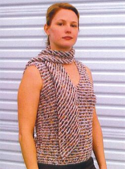 Muench Yarn Patterns - Felted and Fabulous Tank and Scarf Pattern