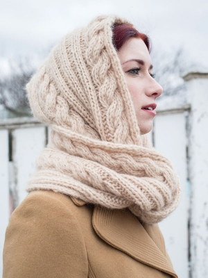 Berroco Kodiak Lituya Hooded Scarf Kit - Scarf and Shawls