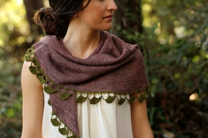 The Fibre Company Meadow/ Shibui Knits Cima Hanging Leaves Kit - Scarf and Shawls