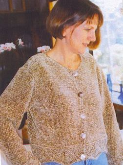 Muench Yarn Patterns - Lace Bordered Chanel Type Jacket Pattern