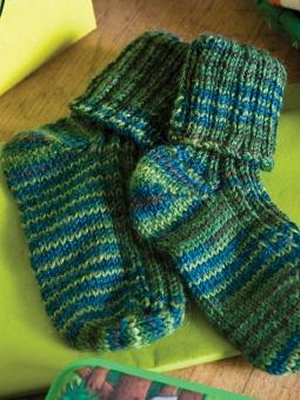 Rowan Fine Art Ribbed Baby Sock Kit - Baby and Kids Socks