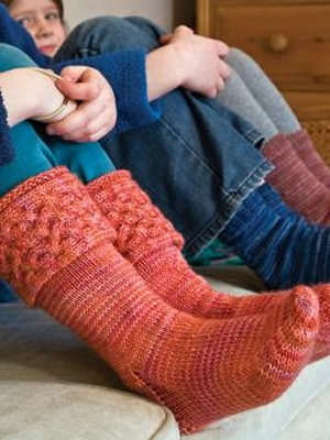 Boot Socks Knitting Pattern : Rowan Fine Art Chunky Cable Boot Liner (Kids) Kit - Baby and Kids Socks Kits ...