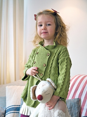 Rowan Wool Cotton 4 Ply Heidi Coat Kit - Baby and Kids Cardigans