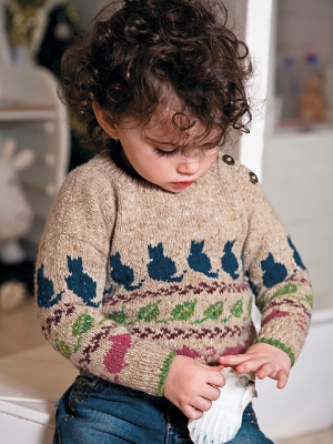 Rowan Fine Tweed Petra Sweater Kit - Baby and Kids Pullovers