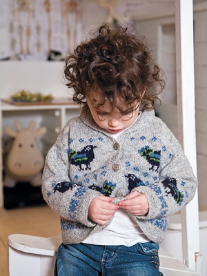 Rowan Fine Tweed Lotte Cardigan Kit - Baby and Kids Cardigans