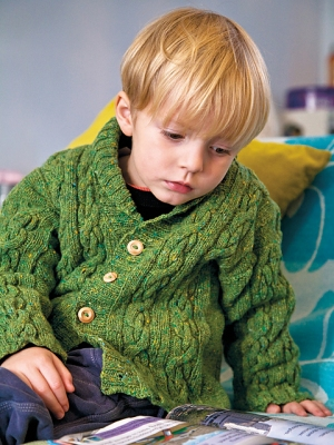 Rowan Fine Tweed Morten Jacket Kit - Baby and Kids Cardigans