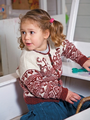 Rowan Fine Tweed Bo Cardigan Kit - Baby and Kids Cardigans
