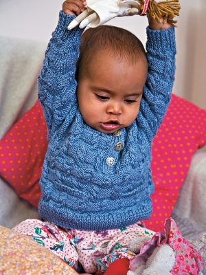 Rowan Cotton Glace Lara Sweater Kit - Baby and Kids Pullovers