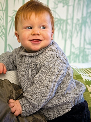 Rowan Wool Cotton Finn Sweater Kit - Baby and Kids Pullovers