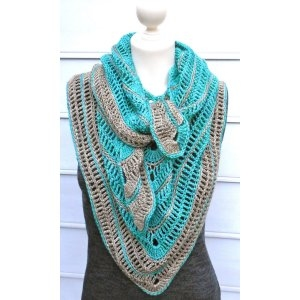 Madelinetosh Dandelion Tranquille Shawl Kit - Crochet for Adults