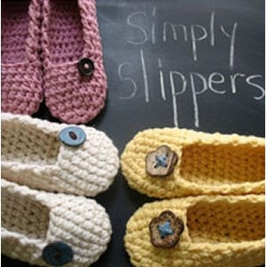 Cascade 220 Simply Slippers  Kit - Crochet for Adults