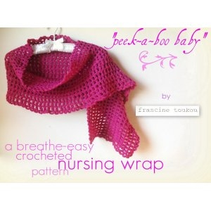 Cascade 220 Peek-A-Boo Baby Shawl Kit - Crochet for Adults