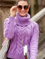 Cascade Longwood Cabled Long-Sleeve Turtleneck Kit
