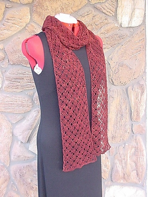 Madelinetosh Prairie Bristleberry Scarf Kit - Crochet for Adults