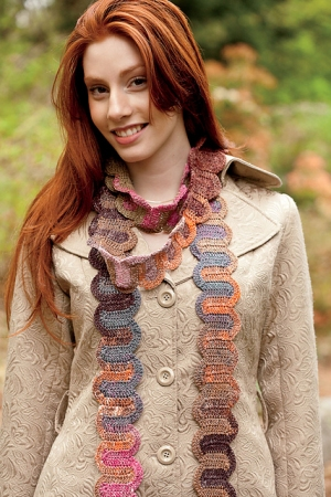 Noro Taiyo Sock Switchback Scarf Kit - Crochet for Adults