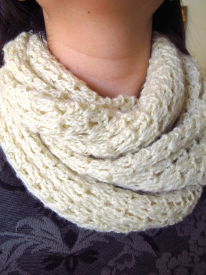 Swans Island Organic Fingering Simply Elegant Scarf Kit - Crochet for Adults