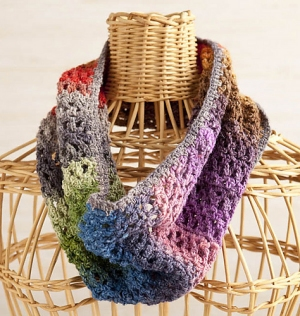 Noro Silk Garden Sock Easy To Wear Cowl Kit - Crochet for Adults