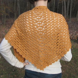 Juniper Moon Findley Autumn Leaves Shawlette Kit - Crochet for Adults