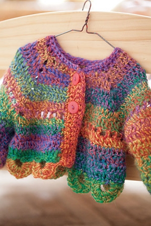 Crystal Palace Sausalito Rainbow Doll Sweater Kit - Crochet for Kids