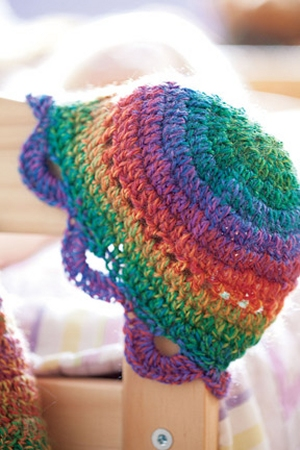 Crystal Palace Sausalito Rainbow Doll Hat Kit - Crochet for Kids