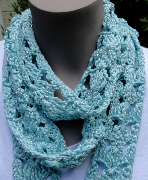 Cascade Yarns Ultra Pima Ice-Cold Summer Scarf Kit - Crochet for Adults