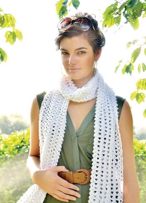 Rowan Pure Linen Candy Scarf Kit - Crochet for Adults
