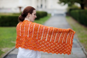 Mrs. Crosby Carpet Bag Lycaena Virgaureae Shawl Kit - Scarf and Shawls