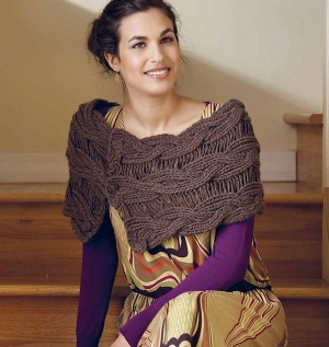Misti Alpaca Chunky Echo Reversible Drop-Stitch Mobius Kit - Scarf and Shawls