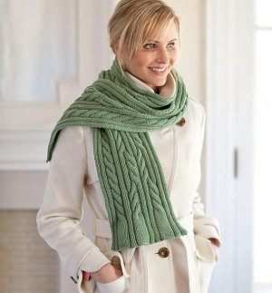 Swans Island Natural Colors Bulky Caitlin Cabled Scarf Kit - Scarf and Shawls