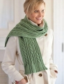 Swans Island Natural Colors Bulky Caitlin Cabled Scarf