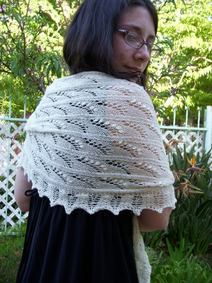 Classic Elite Silky Alpaca Lace Lily of the Valley Shawl Kit - Scarf and Shawls