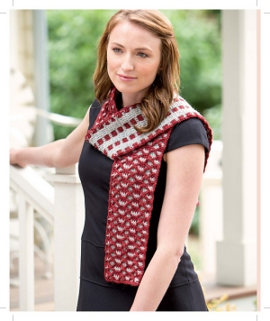 Berroco Ultra Alpaca Light Op-Art Reversible Scarf Kit - Scarf and Shawls