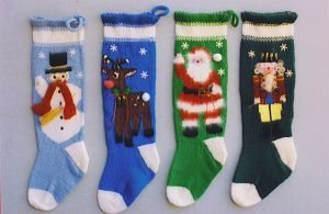 Ann Norling Patterns - 1013 - Knitted Christmas Stockings Pattern