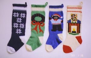 Ann Norling Patterns - 1019 - Knitted Christmas Stockings III Pattern
